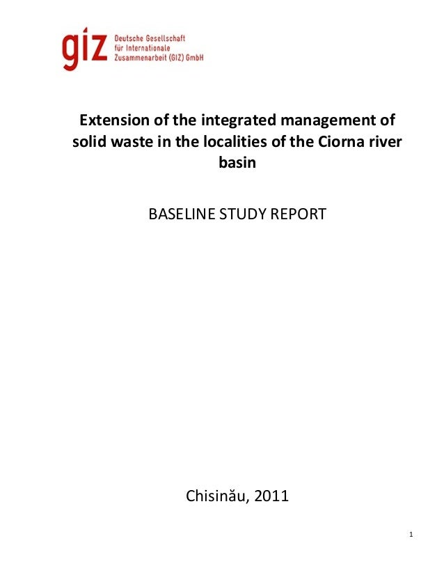 Extension of the integrated management ofsolid waste in the localities of the Ciorna river                     basin      ...