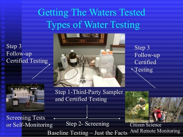 Getting The Waters TestedTypes of Water TestingCitizen ScienceAnd Remote MonitoringBaseline Testing – Just the FactsStep 1...
