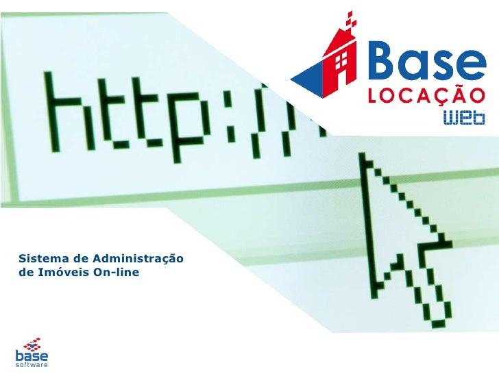 Sistema de Administração  de Imóveis On-line