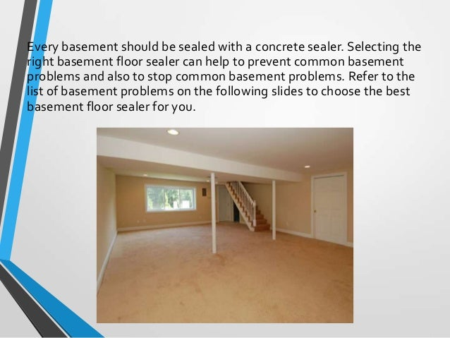 Basement Floor Sealers; 2.