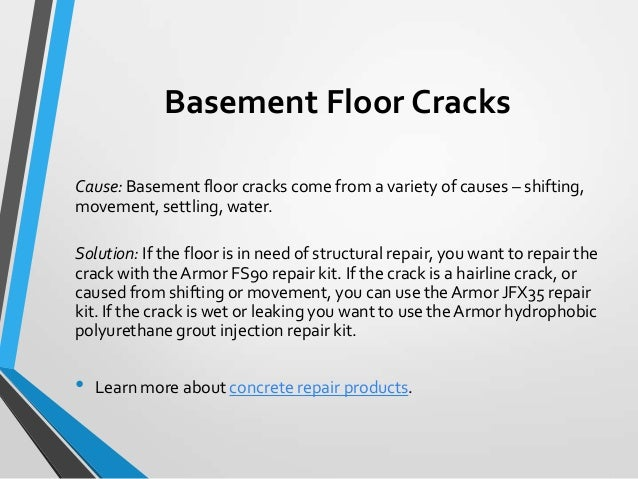 Basement Floor Cracks ...