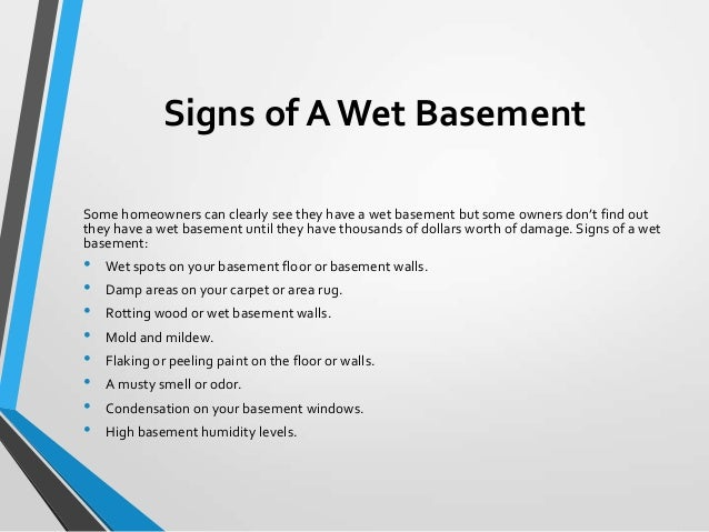 Lovely 8. Signs Of A Wet Basement ... Nice Design
