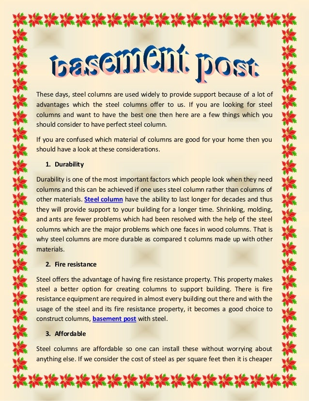 Basement post