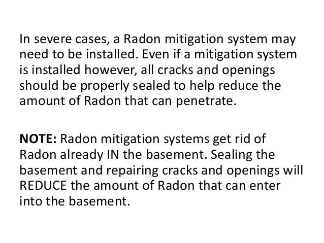 Basement radon for How to get rid of radon gas in your home
