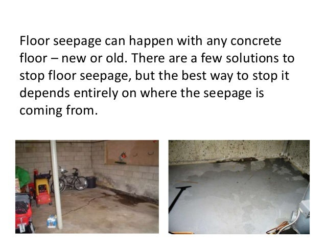 How To Stop Basement Seepage. Basement Seepage Solutions 2