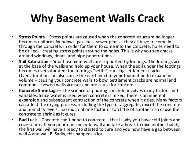 basement wall crack kit 2 - Crack In Basement Wall