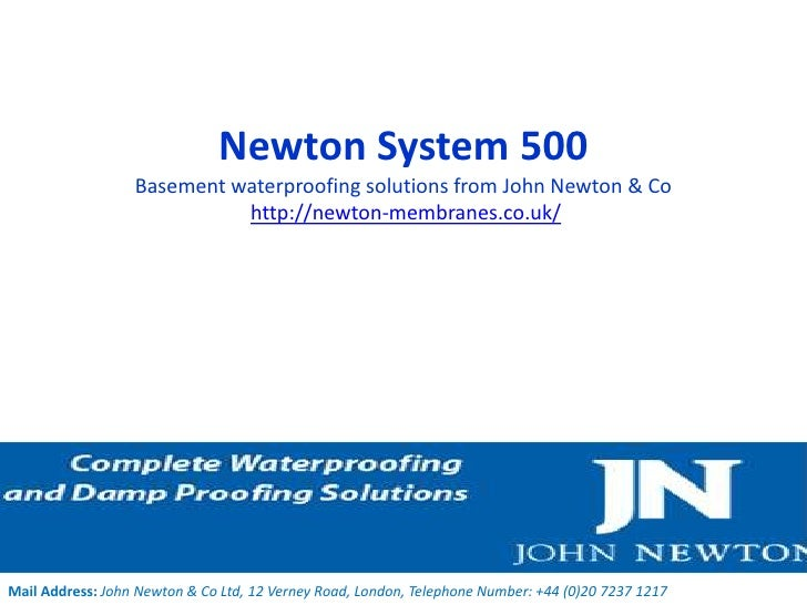 Newton System 500                  Basement waterproofing solutions from John Newton & Co                            http:...
