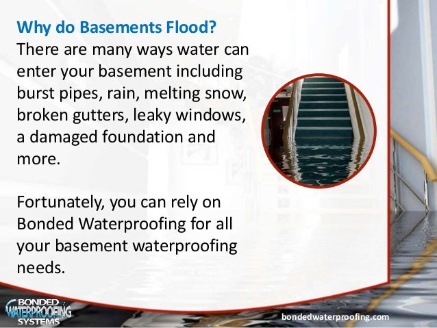 basement waterproofing in nj tips to choose rh slideshare net why do some basements flood why do basements get flooded