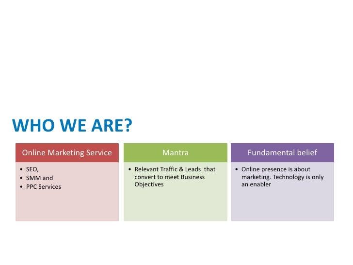 online marketing proposal  Slide 2