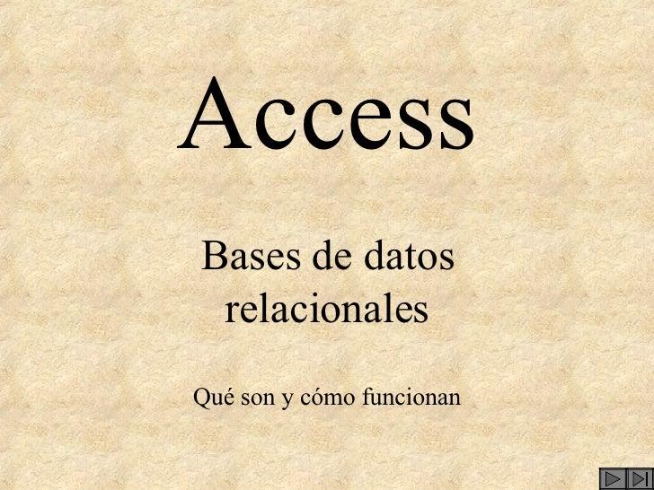 Access Bases de datos relacionales Qué son y cómo funcionan
