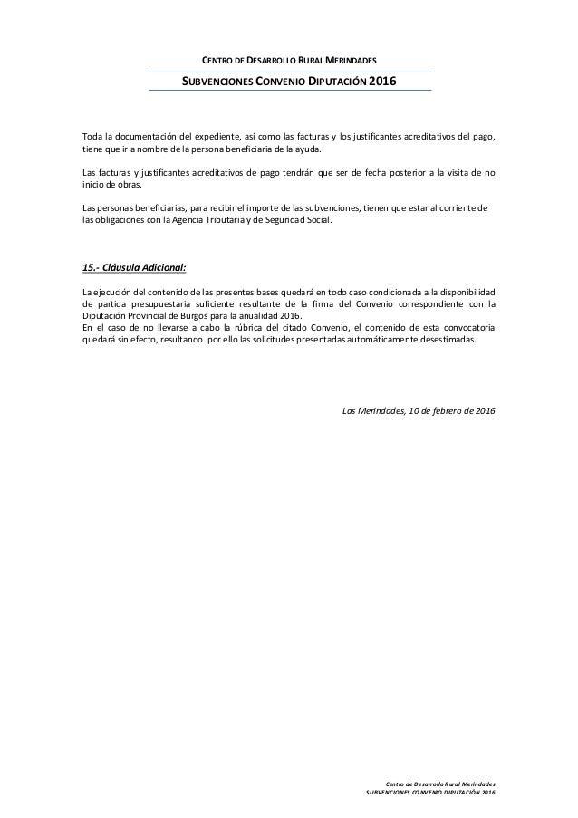 Bases reguladoras ayudas convenio diputaci n 2016 for Convenio jardineria 2016