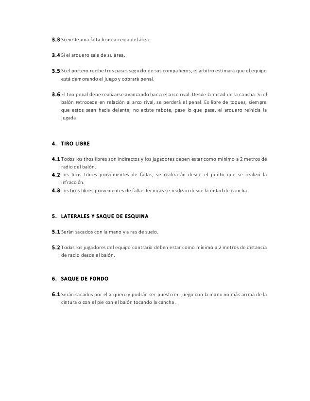 Bases y reglamento gira nacional fútbol calle 2015