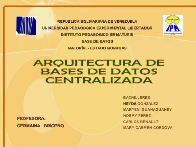 REPUBLICA BOLIVARIANA DE VENEZUELAREPUBLICA BOLIVARIANA DE VENEZUELA UNIVERSIDAD PEDAGOGICA EXPERIMENTAL LIBERTADORUNIVERS...