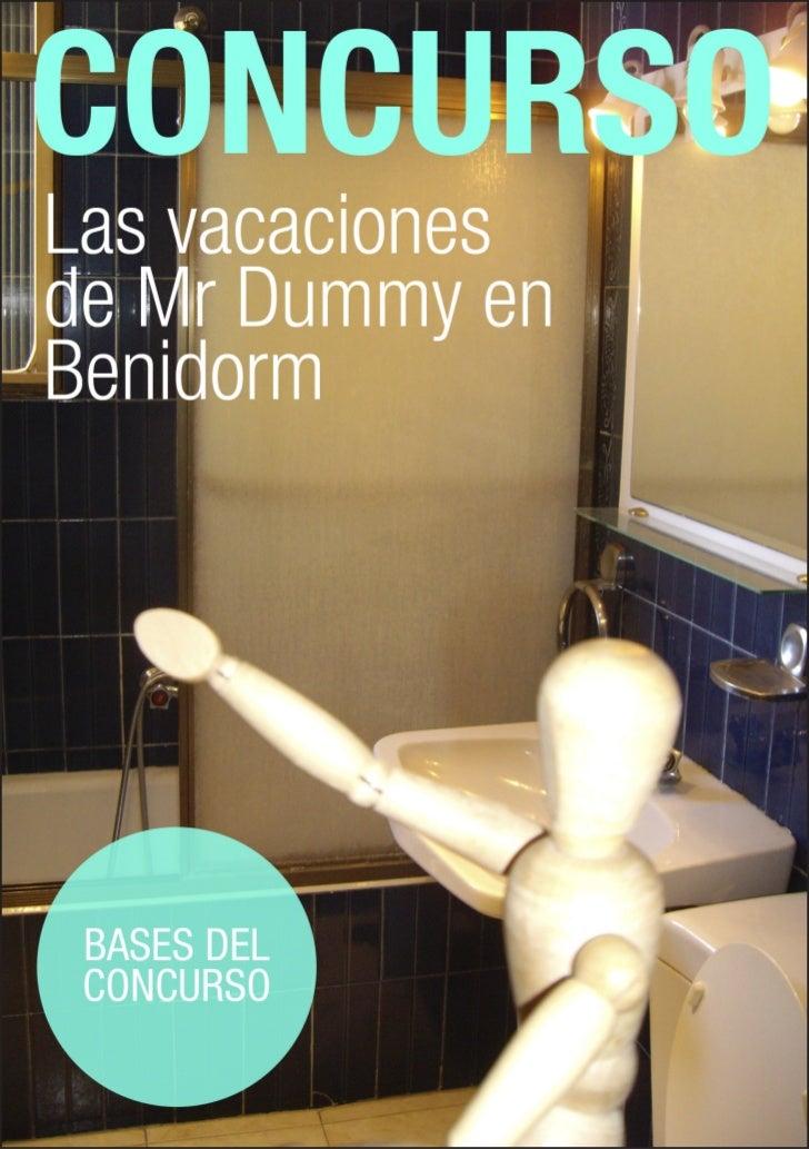 """Concurso: """"Las vacaciones de Dummy en Benidorm""""Envía tus fotos con la temática """"Las vacaciones de Dummy en Benidorm"""", y pa..."""