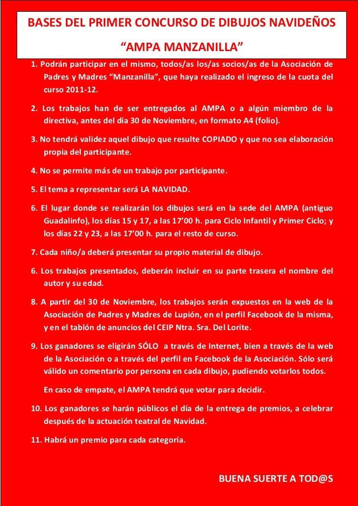 BASES DEL PRIMER CONCURSODE DIBUJOS NAVIDEÑOS        BASES DEL PRIMER CONCURSO DE DIBUJOS NAVIDEÑOS                       ...