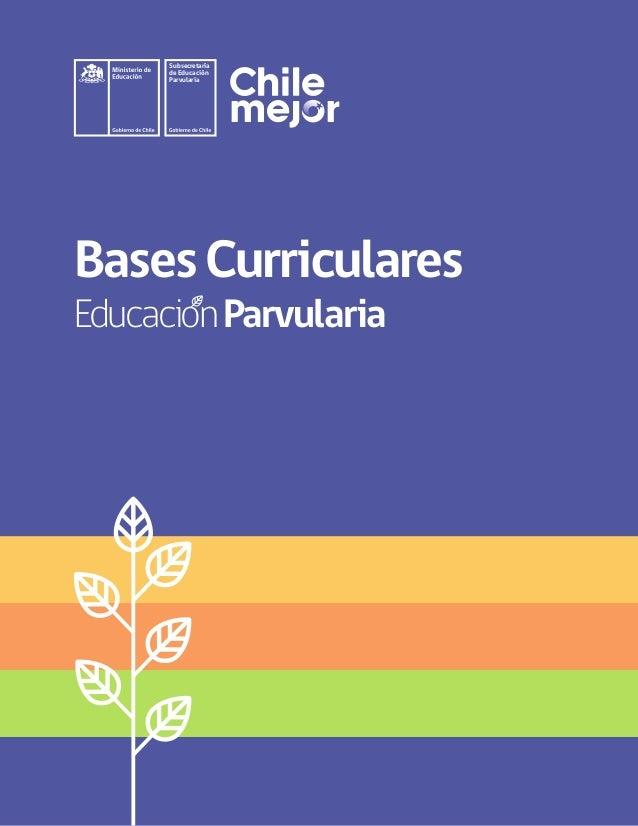 BasesCurriculares EducacionParvularia Subsecretaría de Educación Parvularia