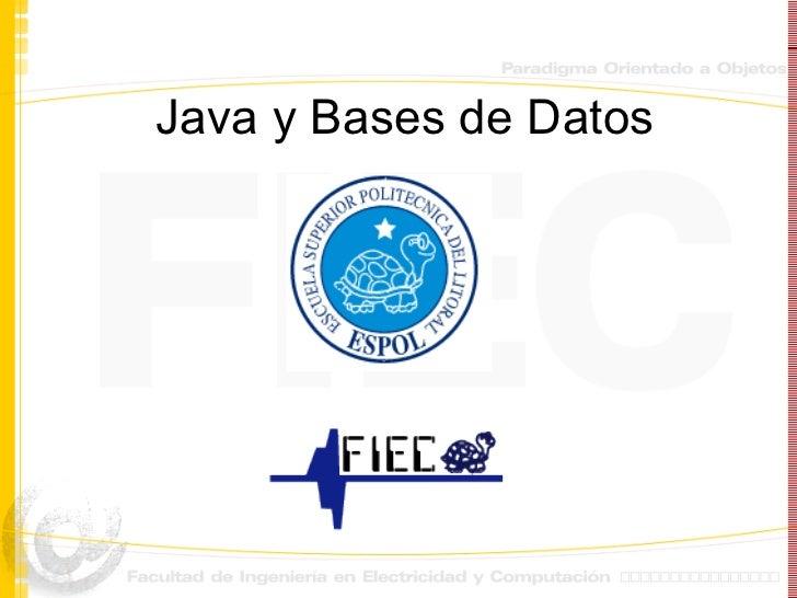 Java y Bases de Datos