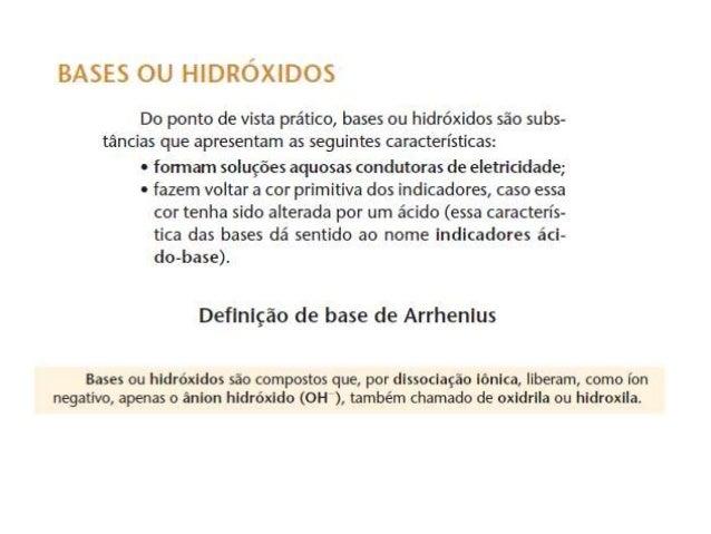 Bases de Arrehnius