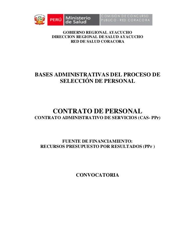 Bases De Concurso Hospital Coracora 2013