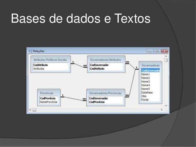 Bases de dados e Textos