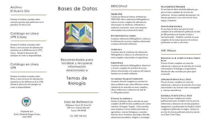 EBSCOhost Archivo                                            Bases de Datos                                               ...
