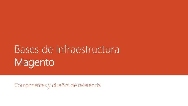 Bases de Infraestructura Magento Componentes y diseños de referencia