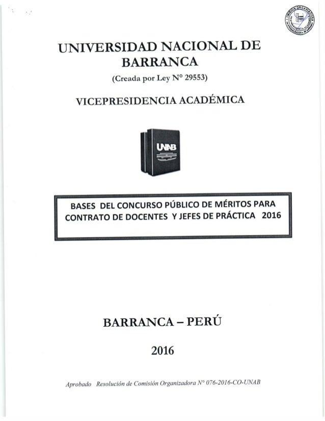Bases del concurso p blico de m rito para contrato de for Concurso meritos docentes 2016