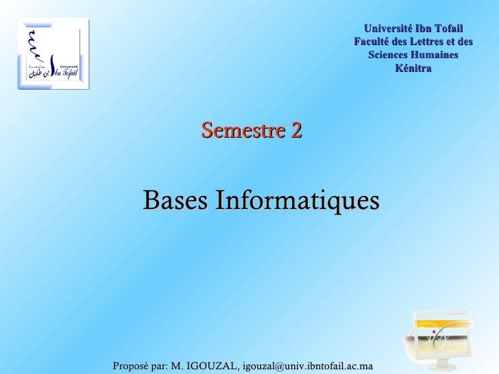 Université Ibn Tofail                                                Faculté des Lettres et des                           ...