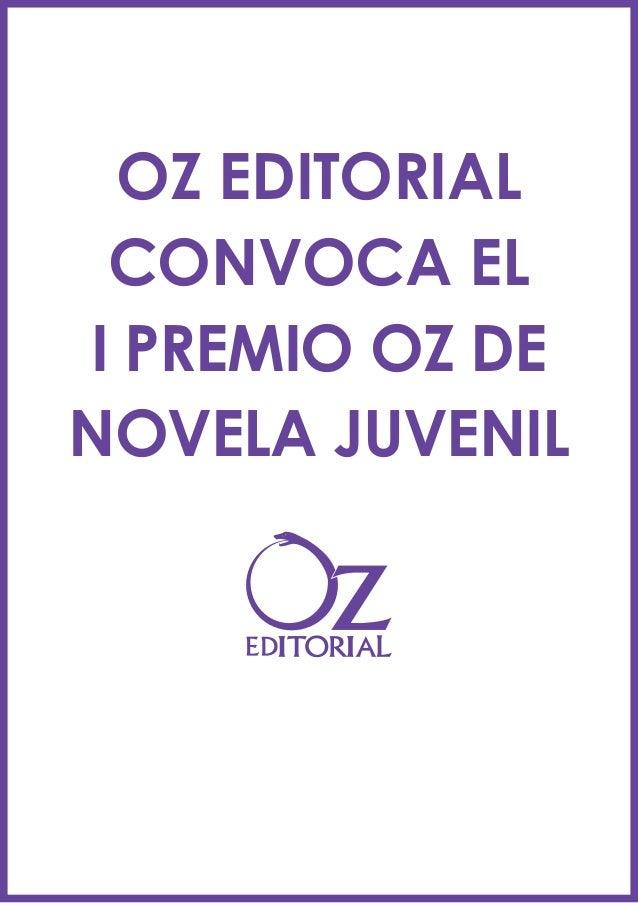 OZ EDITORIAL CONVOCA EL I PREMIO OZ DE NOVELA JUVENIL