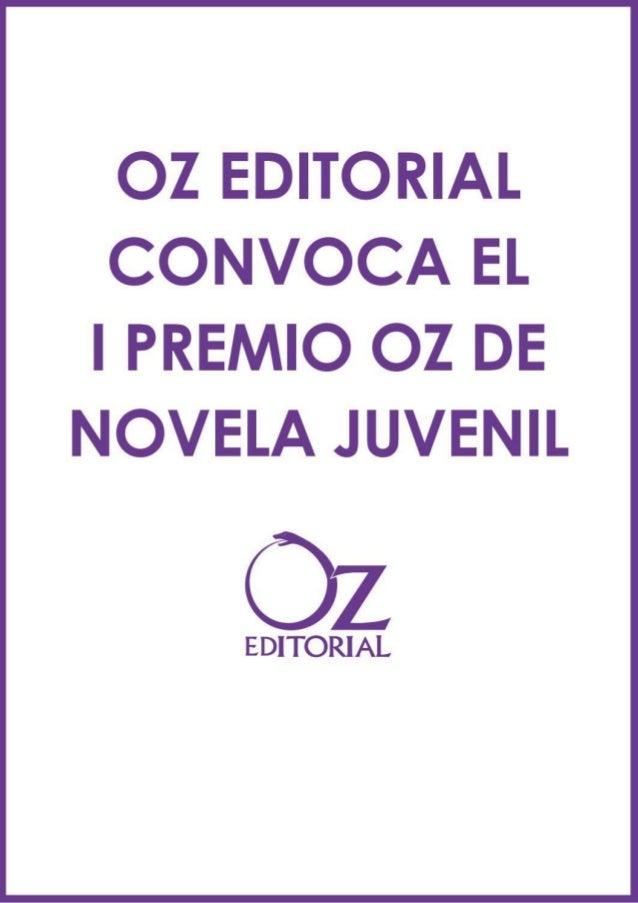Bases I premio Oz Editorial (retocadas por ellos)