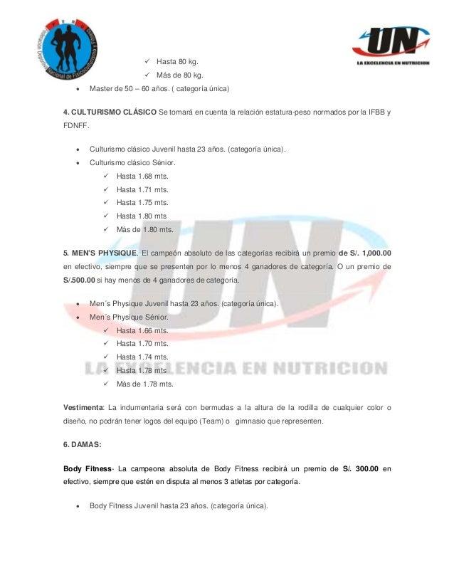 Bases Oficiales I COPA UNIVERSE NUTRITION