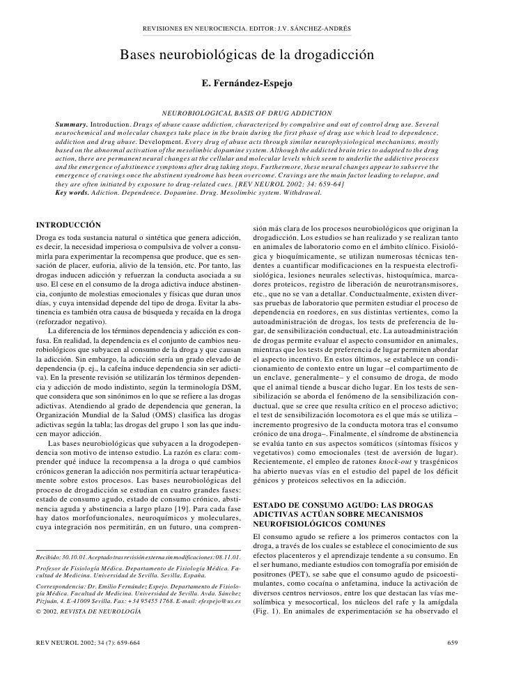 REVISIONES EN NEUROCIENCIA. EDITOR: J.V. SÁNCHEZ-ANDRÉS                                                                   ...