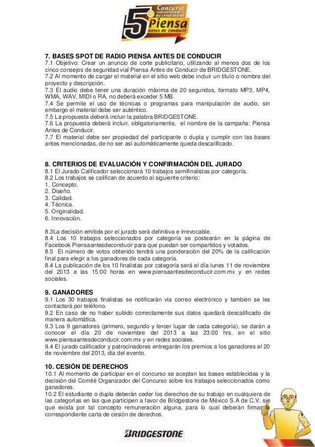 7. BASES SPOT DE RADIO PIENSA ANTES DE CONDUCIR 7.1 Objetivo: Crear un anuncio de corte publicitario, utilizando al menos ...