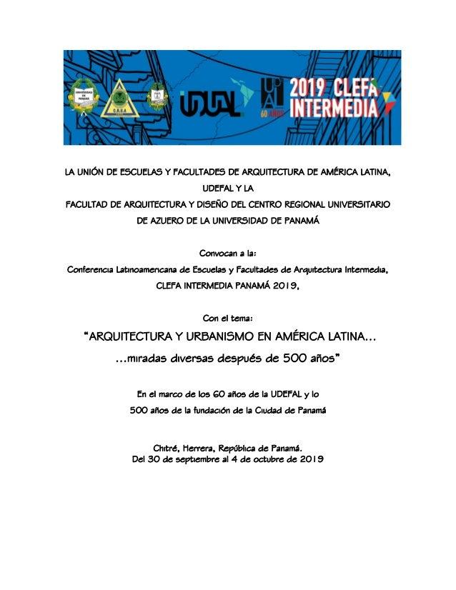 LA UNIÓN DE ESCUELAS Y FACULTADES DE ARQUITECTURA DE AMÉRICA LATINA, UDEFAL Y LA FACULTAD DE ARQUITECTURA Y DISEÑO DEL CEN...