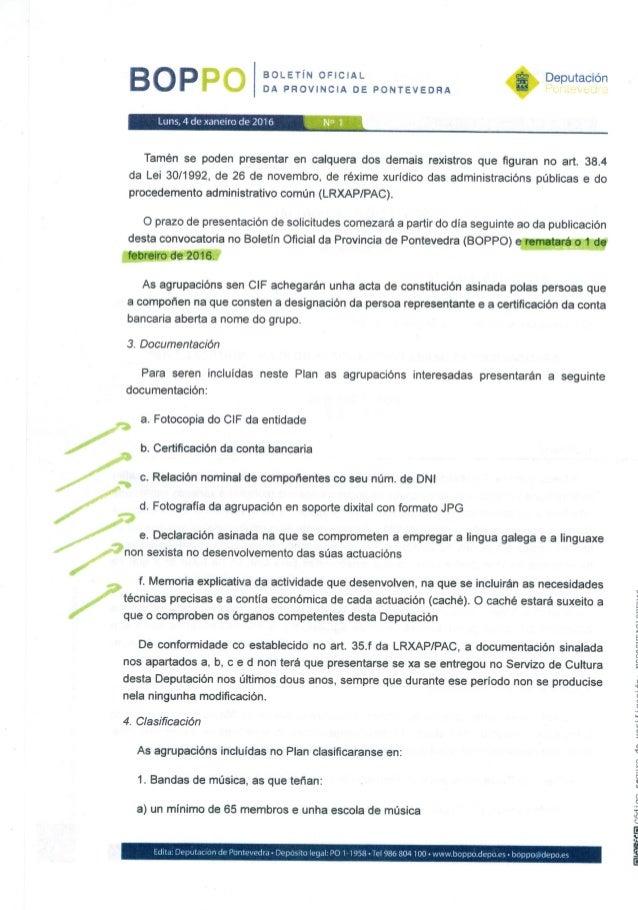 BOLETÍN OFICIAL DA PROVINCIA DE PONTEVEDRA  BOPPO  Luns,  4 de xanenro de 2016 N ' l  Deputación Por HGM-JU' —_z  Tamén se...