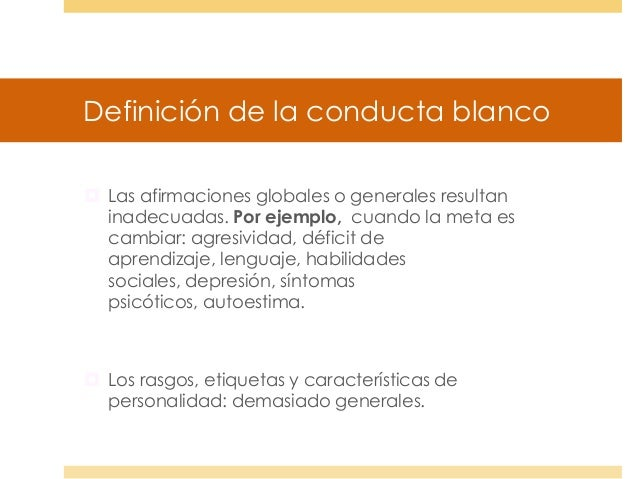 Bases te ricas de la modificaci n conductual 2013 for Definicion de gastronomia pdf