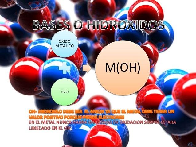 OXIDO  METALICO  H2O  M(OH)