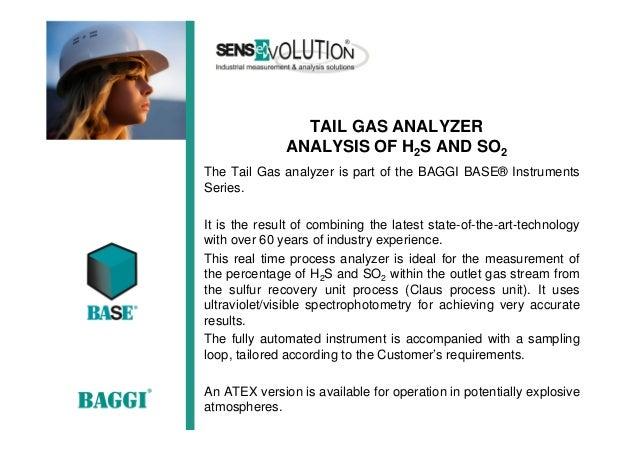 tail gas H2S/SO2 analyzer  Slide 2