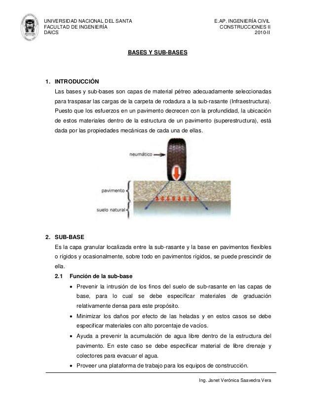 UNIVERSIDAD NACIONAL DEL SANTA E.AP. INGENIERÍA CIVIL FACULTAD DE INGENIERÍA CONSTRUCCIONES II DAICS 2010-II Ing. Janet Ve...