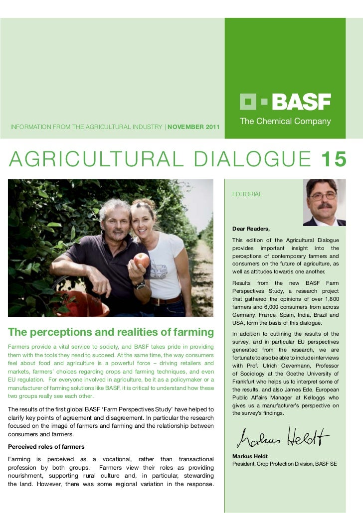 InfORmATIOn fROm ThE AGRICULTURAL InDUsTRy | November 2011AGRICULTURAL DIALOGUE 15                                        ...