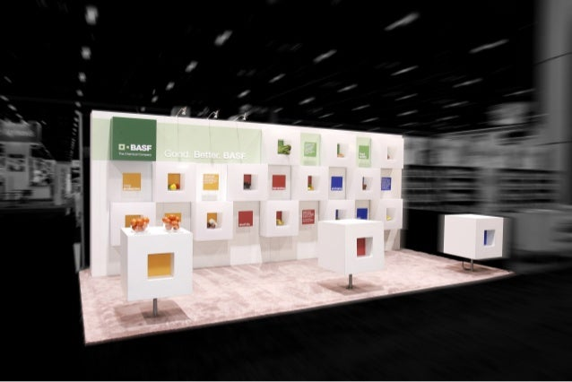 Booth Sizes For Exhibition : Basf trade show booth