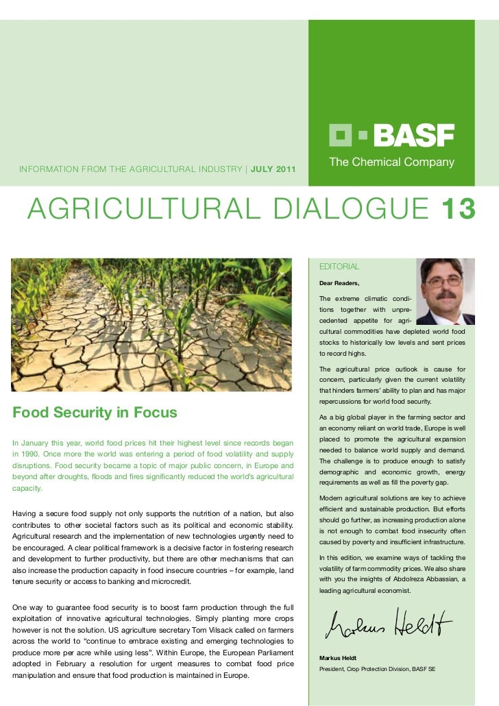 InfORmATIOn fROm ThE AGRICULTURAL InDUsTRy | july 2011    AGRICULTURAL DIALOGUE 13                                        ...