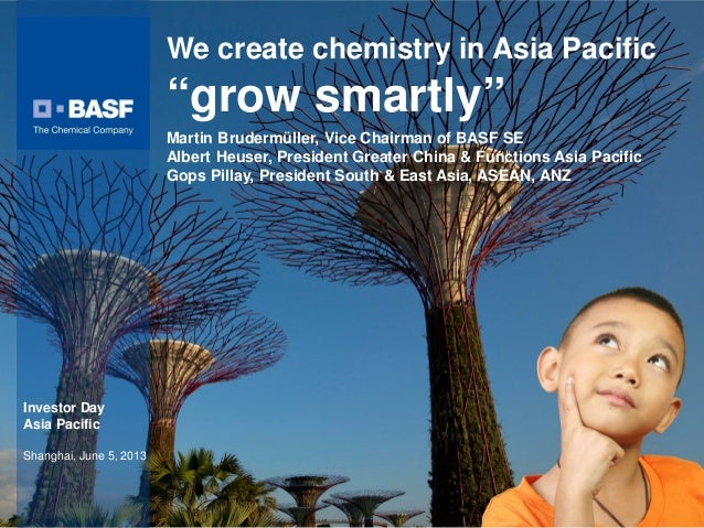Martin Brudermüller, Vice Chairman of BASF SEAlbert Heuser, President Greater China & Functions Asia PacificGops Pillay, P...