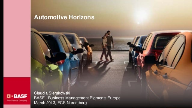 Automotive HorizonsClaudia SierakowskiBASF - Business Management Pigments EuropeMarch 2013, ECS Nuremberg