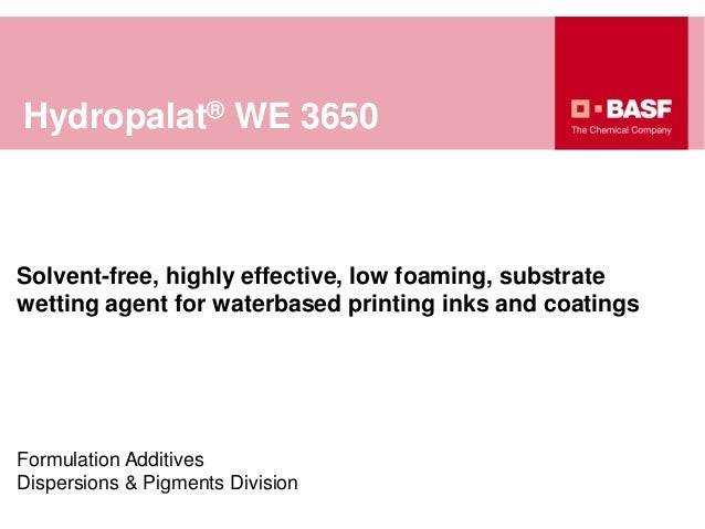 Hydropalat® WE 3650 - BASF Formulation Additives