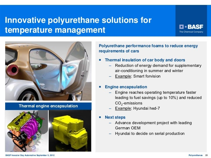 BASF Polyurethanes Division: Driving efficiency, comfort and