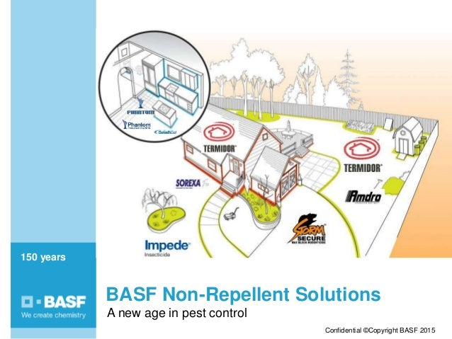 150 years150 years Confidential ©Copyright BASF 2015 BASF Non-Repellent Solutions A new age in pest control