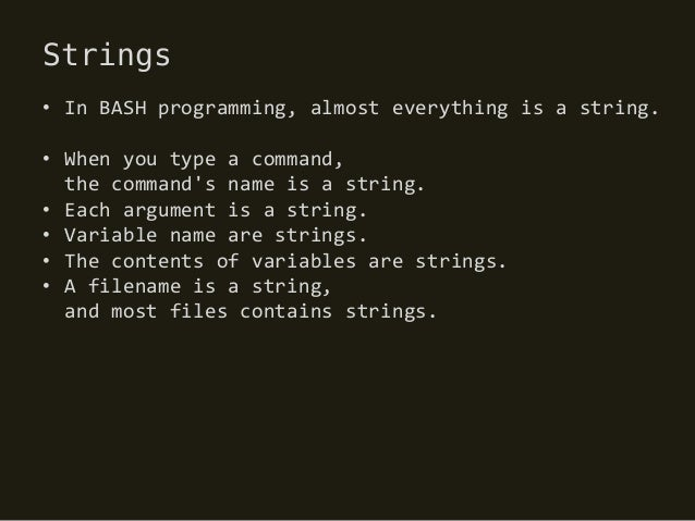 BASH Guide Summary