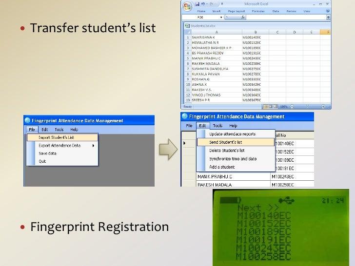 Fingerprint Attendance System - the hand-held device for