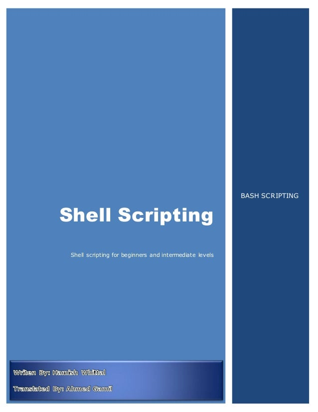 BASH SCRIPTING FOR BEGINNERS PDF DOWNLOAD